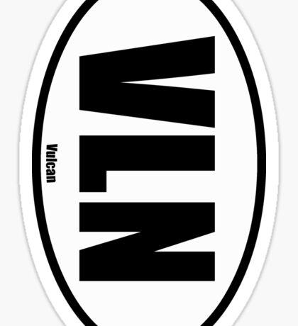 Vulcan - European Style Oval Country Code Sticker Sticker