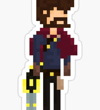 Graves, The Pixel Outlaw Sticker