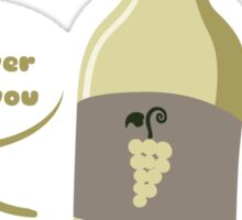 White Wine Buddy Sticker