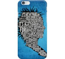 Typography Marla Singer iPhone Case/Skin
