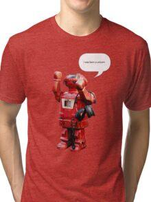 Bibot Robot- i was born a unicorn Tri-blend T-Shirt