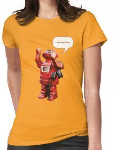 Bibot Robot- i was born a unicorn Womens Fitted T-Shirt