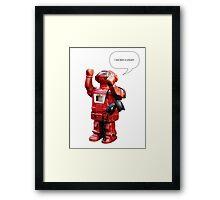 Bibot Robot- i was born a unicorn Framed Print