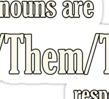 They pronouns Sticker