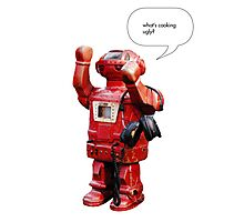 Bibot Robot- what's cooking ugly? Photographic Print