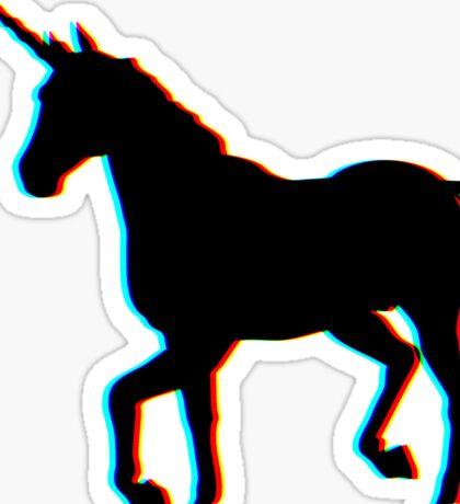 3D Unicorn Sticker