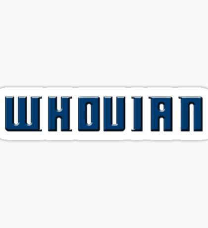 Whovian Pride Sticker