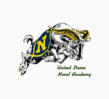 THE USNA Rampaging Goat! Women's Fitted V-Neck T-Shirt