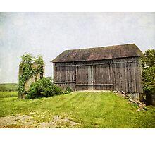 over grown silo Photographic Print
