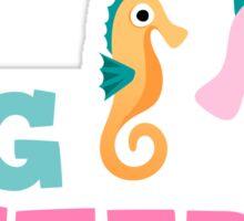 Big sister seahorse cartoon sticker Sticker