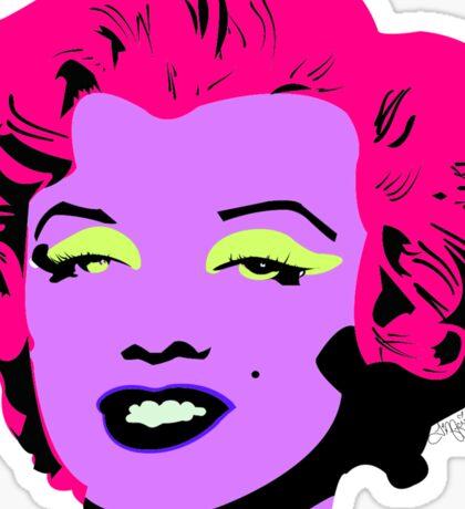 Purple Marilyn Monroe Sticker