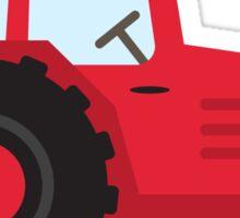 Red tractor sticker Sticker