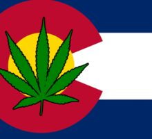 Sticker - Colorado State Flag - Cannabis Leaf Sticker