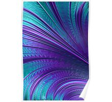 Abstract in Blue and Purple Poster