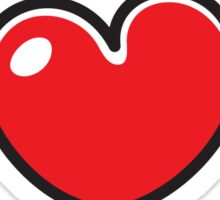 Red cartoon heart sticker collection Sticker