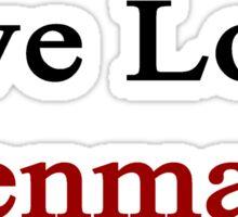 Live Love Denmark  Sticker