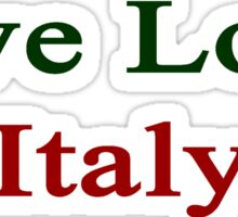 Live Love Italy  Sticker