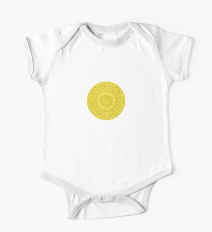 small yellow chakra mosaic circle girly Kids Clothes