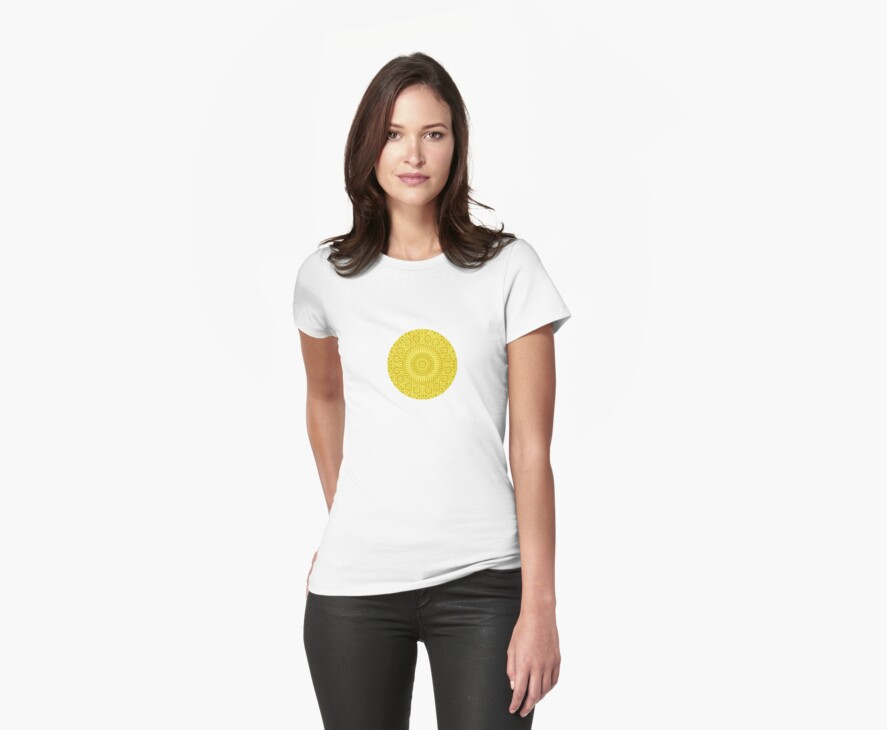 small yellow chakra mosaic circle girly by offpeaktraveler