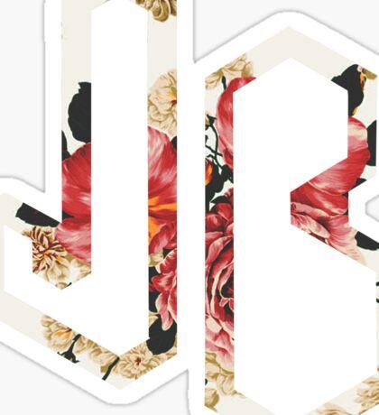 Floral Jonas Brothers Logo Sticker