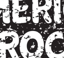 America rocks sticker, grunge Sticker