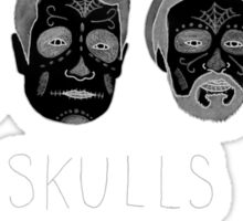 Skulls (with hair detail) Sticker