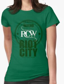 Defend the City 0 Womens Fitted T-Shirt