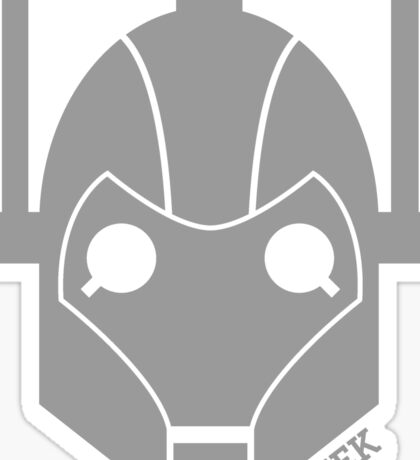 Geek Shirt #1 Cyberman Grey Sticker