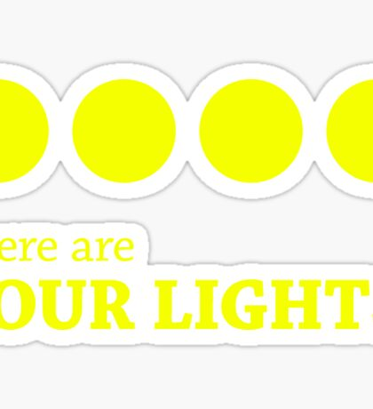 There are FOUR LIGHTS! (Yellow Ink) Sticker