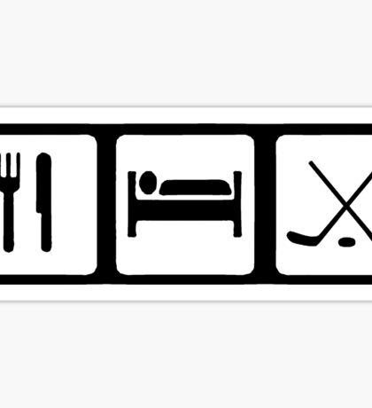 Eat, Sleep, Ice Hockey Sticker