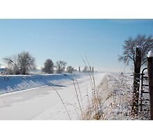 Winter Canal Photographic Print