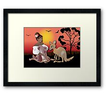 Twisted - Wild Tales: Arinya and the Kangaroo Framed Print