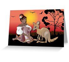 Twisted - Wild Tales: Arinya and the Kangaroo Greeting Card