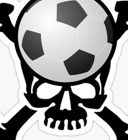 Soccer Skull Sticker