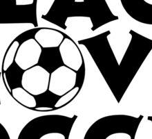 Peace, Love, Soccer Sticker