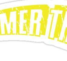 """Hammer This!"" Text Only/Yellow/Arch Sticker"