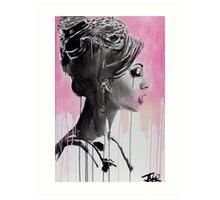 belle en rose Art Print