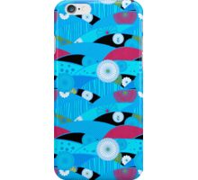 Chiyogami Aqua & Cerise [iPhone / iPod Case and Print] iPhone Case/Skin