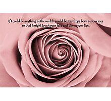 Romantic Love Card 2 Photographic Print
