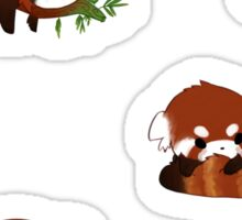 Red Panda Chibi Stickers Sticker