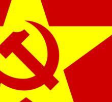 Communist Chinese Flag Stickers Sticker