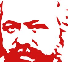 Karl Marx Slogan Stickers Sticker