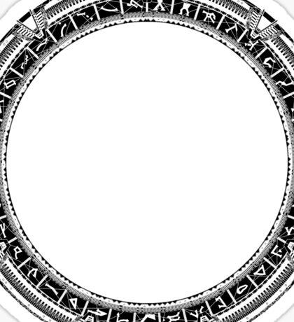 The Stargate black ink Sticker