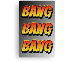 Cartoon BANG by Chillee Wilson Canvas Print