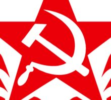 Soviet Hammer and Sickle Emblem Stickers Sticker