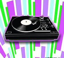 Cool Retro Record Player by Rev. Shakes Spear