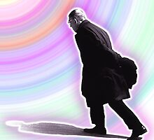 Sartre Walking - 2 by Rev. Shakes Spear