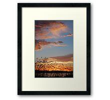 Running Clouds Framed Print