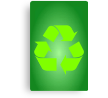 Recycle Symbol by Chillee Wilson Canvas Print