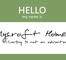 Mycroft Holmes Name Tag by Kristina Moy